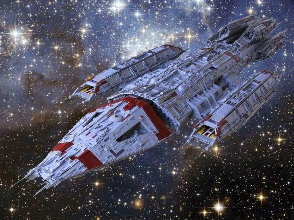 111-pound Lego model