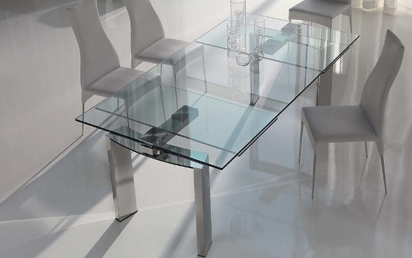 Dining room table expandable