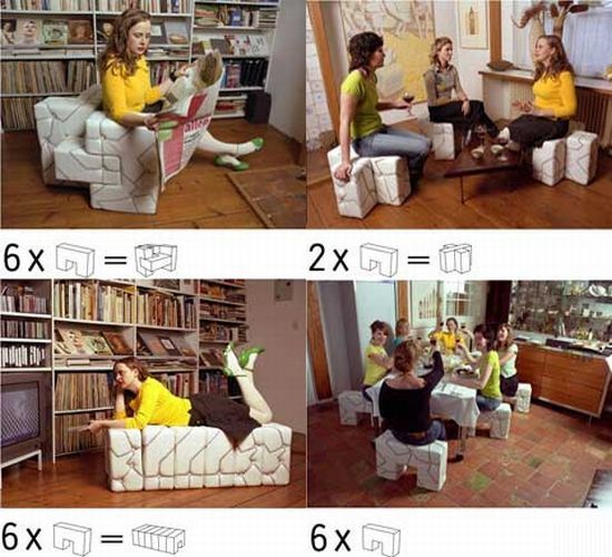 La linea: Sofa, stool, chair, pouffe – all in one! | Designbuzz ...