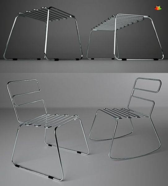 6 tubo bench tubo chair