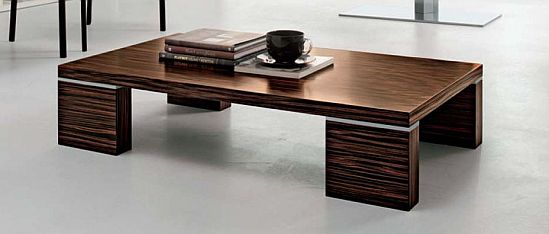 The ultrasophisticated Adam Rectangle Coffee Table for
