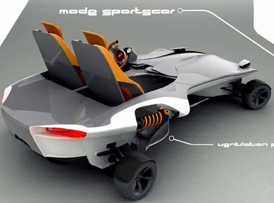 advanced go cart inspired sportscar