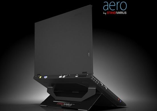 aero attachable laptop stand