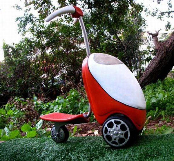 All-electric Lawnmower Scooter