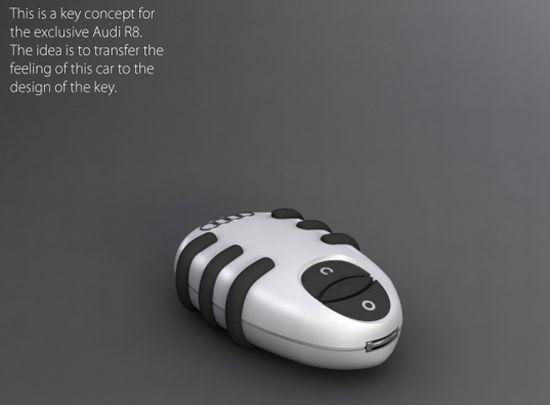 audi r8 key concept