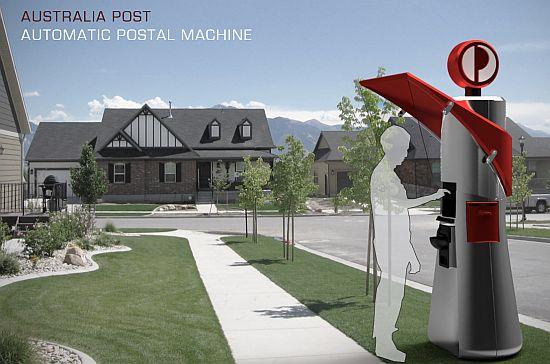 automatic postal machine