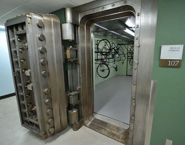 bike parking in former bank vault