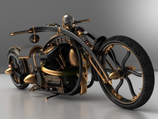 black widow steampunk chopper 01