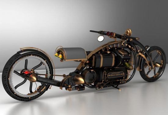 black widow steampunk chopper 02