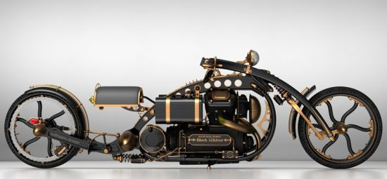 black widow steampunk chopper 04