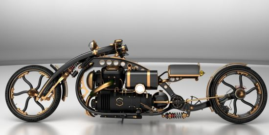 black widow steampunk chopper 07