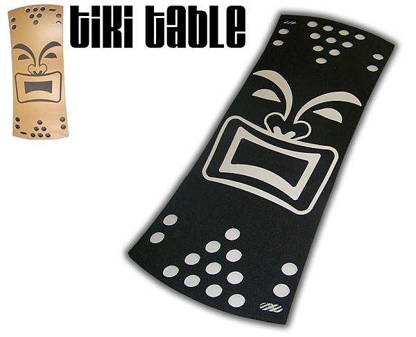 Black Tiki Floating Beer Pong Table