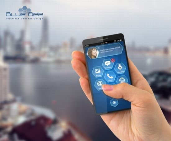 blue bee phone interface concept 1
