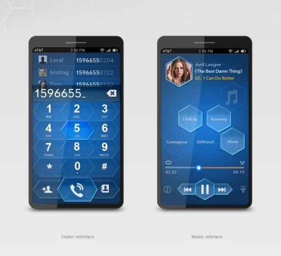 blue bee phone interface concept 3