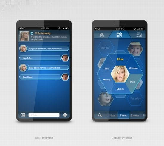 blue bee phone interface concept 4