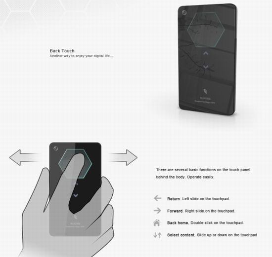 blue bee phone interface concept 6