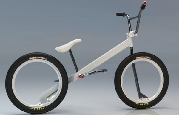 Bikes Without Chains Hubless BMX Concept bike with