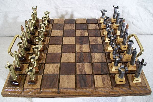 Caliber 223 Unique Chess Set Made From Bullet Shell