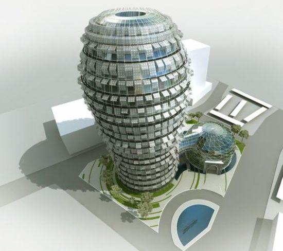 cactus shaped building