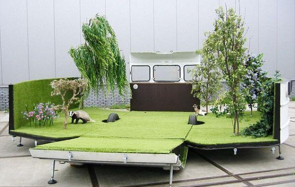 Caravan mobile garden