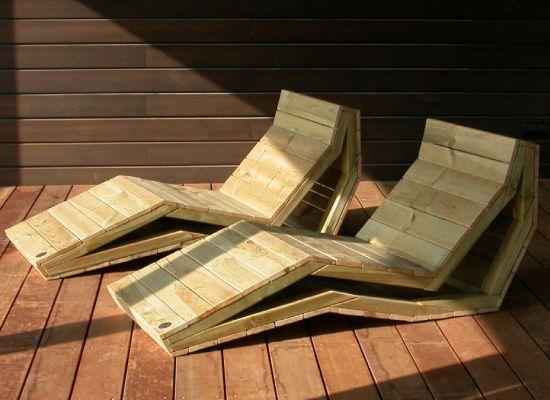chaiselongue oak chair