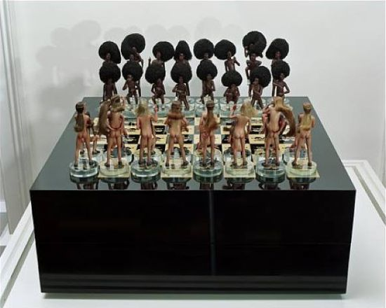 chess set white black