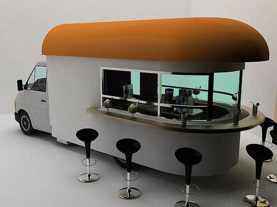 Coffee shop on wheels!   Designbuzz : Design ideas and concepts