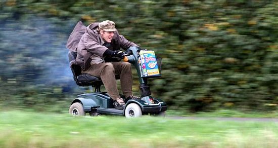 colin furze mobility scooter