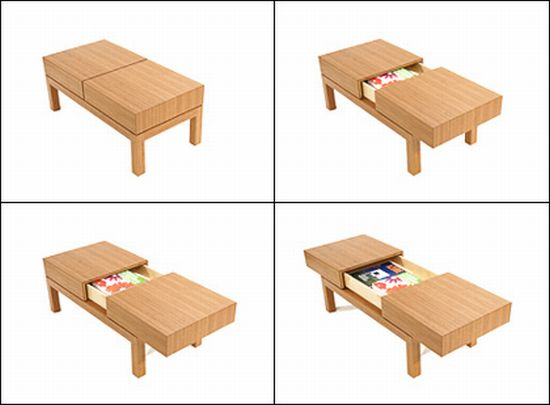 Divide Coffee Table With Hidden Drawer Designbuzz