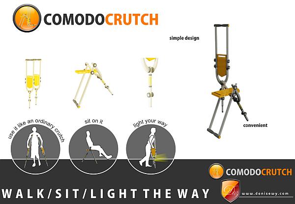comodo transformable crutch