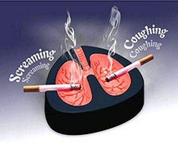 coughing and screaming ashtray 2263