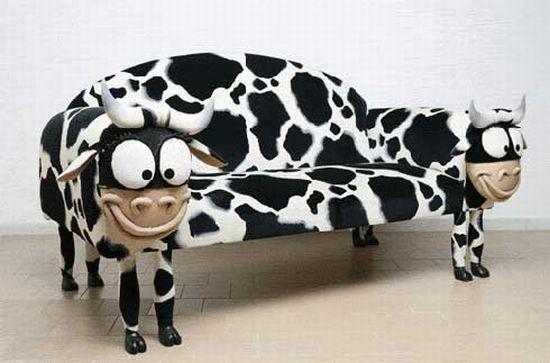 cow sofa