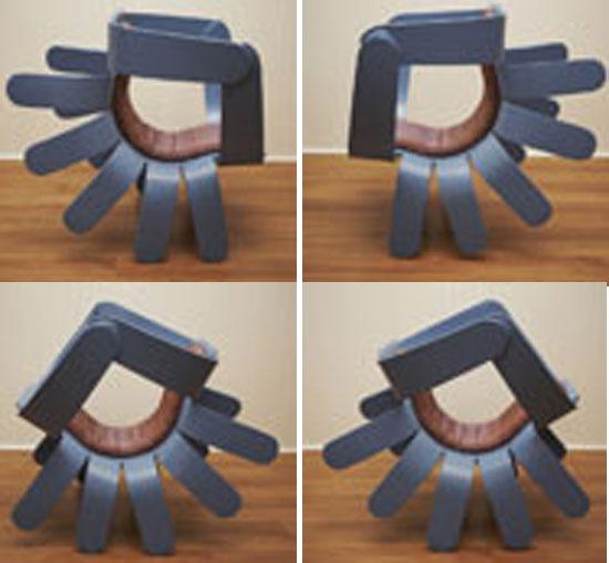 Crab chair- Chair with ten legs! - Designbuzz