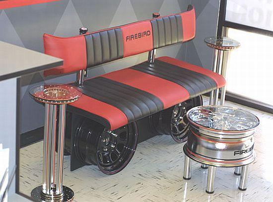 Automotive furniture Auto parts reassembled for unique