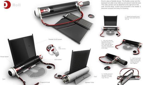 d roll laptop concept 5