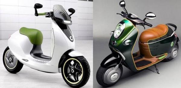 daimler smart e scooter and bmw mini