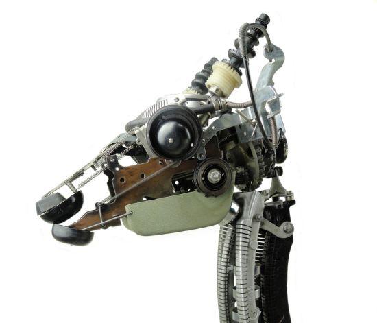 deer made from typewriter parts 01