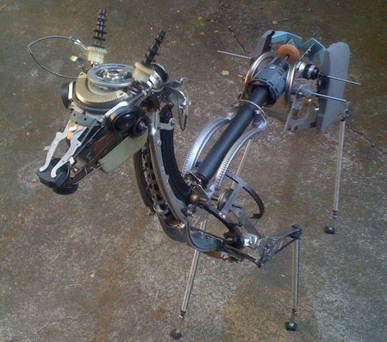 deer made from typewriter parts 02