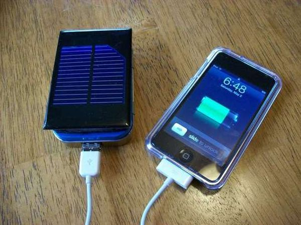 DIY solar powered charger
