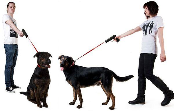 dog leash gun