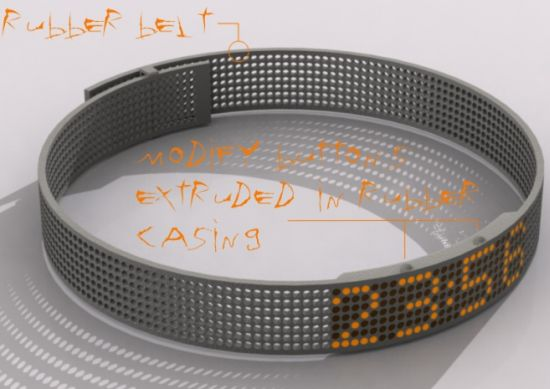 dot wrist based watch 02