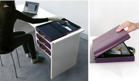 Briefcase Desk Home Decoration