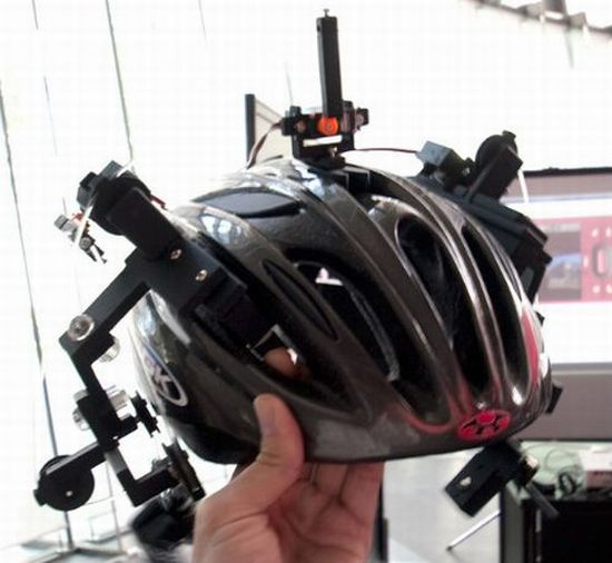 ear pulling helmet