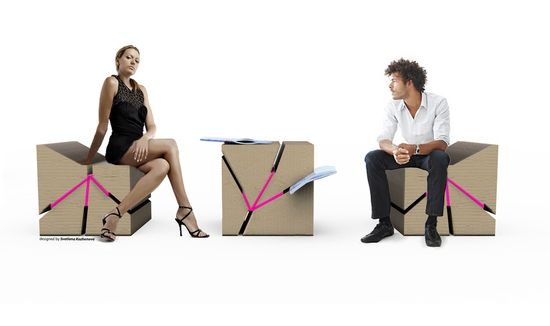 eco ecological cardboard furniture