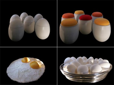 egg inspired furniture by valentina audrito