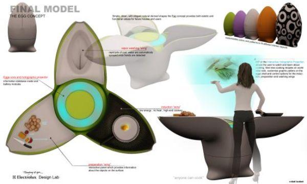 egg kitchen concept