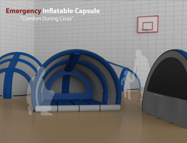 Emergency inflatable capsule