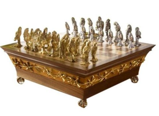 endangered parrots of the world chess set 01