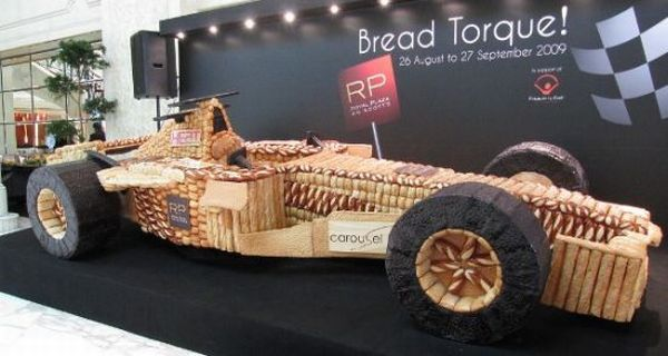 F1 car made with bread