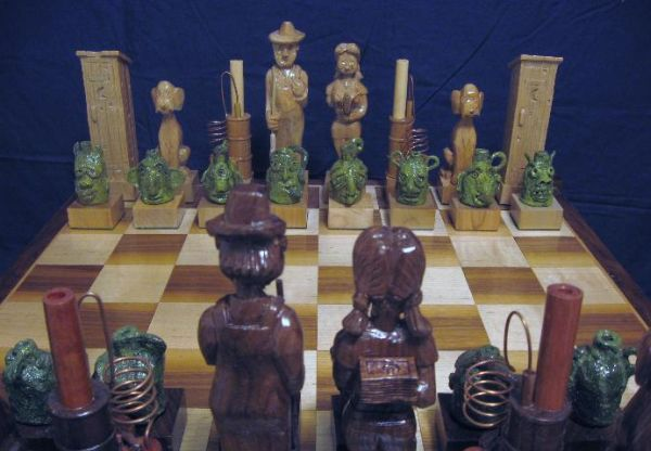 Face Jug Chess Set